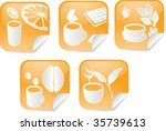 set of various beverage icons... | Shutterstock . vector #35739613