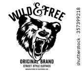wild and free vintage... | Shutterstock .eps vector #357399218