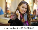young beautiful woman in a... | Shutterstock . vector #357400943