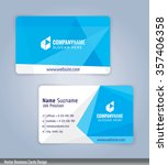 white and blue modern business... | Shutterstock .eps vector #357406358
