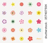 Abstract Cute Flowers On A...