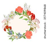 vector background with flowers...   Shutterstock .eps vector #357409868