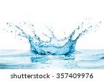 water splash with reflection | Shutterstock . vector #357409976