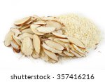 ground almond and sliced almond | Shutterstock . vector #357416216