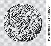 ornamental fish on ethnic... | Shutterstock .eps vector #357428009