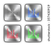 color sound bars icons engraved ...