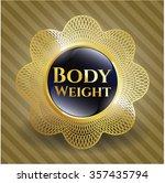 body weight gold badge | Shutterstock .eps vector #357435794