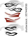 vehicle graphics  stripe  ... | Shutterstock . vector #357440930