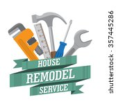 house remodel tools. home... | Shutterstock .eps vector #357445286