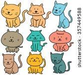 vector set of cat | Shutterstock .eps vector #357449588