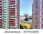 Aerial View Group Of High Rise...