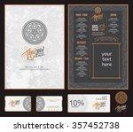 vector thai food restaurant... | Shutterstock .eps vector #357452738