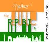 illustration of indian republic ... | Shutterstock .eps vector #357453704