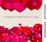 st valentine s  day greeting... | Shutterstock .eps vector #357455204