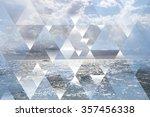 abstract sea geometric... | Shutterstock . vector #357456338