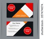modern business two sided... | Shutterstock .eps vector #357474074