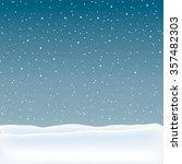 snow landscape background.... | Shutterstock . vector #357482303