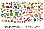 fresh ingredients   vegetables  ... | Shutterstock .eps vector #357488690