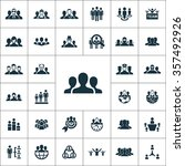 teamwork icons vector set | Shutterstock .eps vector #357492926