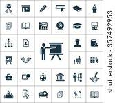 training icons vector set | Shutterstock .eps vector #357492953