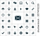 web ui icons vector set | Shutterstock .eps vector #357493220