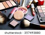 Cosmetics On Dark Background ...