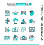 education online books ... | Shutterstock .eps vector #357494018