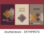 collection of 3 templates cards. | Shutterstock .eps vector #357499073