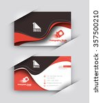 modern business card vector... | Shutterstock .eps vector #357500210