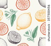 vector seamless pattern with... | Shutterstock .eps vector #357500456