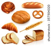 bread  vector icons set | Shutterstock .eps vector #357504320
