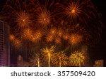golden fireworks celebration ... | Shutterstock . vector #357509420