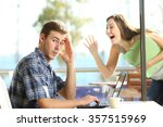 man ignoring and rejecting to a ... | Shutterstock . vector #357515969