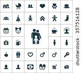 family icons vector set.  | Shutterstock .eps vector #357516128