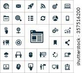 digital marketing icons vector... | Shutterstock .eps vector #357516200