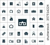 home icons vector set | Shutterstock .eps vector #357516224