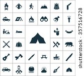 camping icons vector set. | Shutterstock .eps vector #357516728