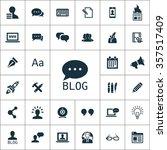 blog icons universal set for... | Shutterstock .eps vector #357517409