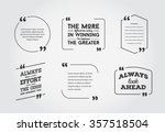 typographic quote template... | Shutterstock .eps vector #357518504