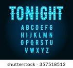 neon casino or broadway signs... | Shutterstock .eps vector #357518513