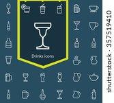 drinks outline  thin  flat ... | Shutterstock .eps vector #357519410