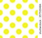 lemon slices on white... | Shutterstock .eps vector #357520484