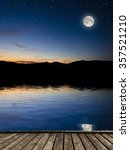 full moon background. elements... | Shutterstock . vector #357521210