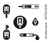 vector diabetic set. blood... | Shutterstock .eps vector #357521330