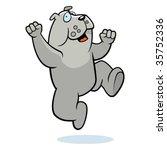 bulldog jumping | Shutterstock .eps vector #35752336