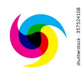 cmyk logo. can be used in... | Shutterstock .eps vector #357524108