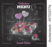 valentine's day card with love... | Shutterstock .eps vector #357525776