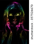 neon light abstract digital art ... | Shutterstock . vector #357526670