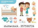 newborn baby. flat design.... | Shutterstock .eps vector #357530726