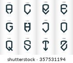 letters in the form of shields. ... | Shutterstock .eps vector #357531194